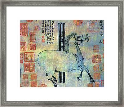 White Horse  Ca. 1470-1529 Framed Print