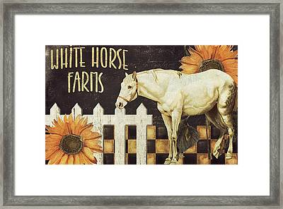 White Horse Farms Vermont Framed Print by Mindy Sommers