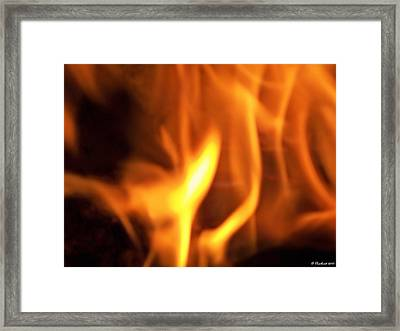 Framed Print featuring the photograph White Hot by Betty Northcutt
