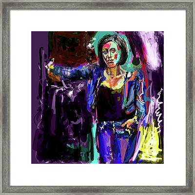 White Hot Mexican Chick Framed Print by James Thomas