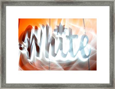 White Hot Framed Print