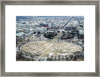White House And The Ellipse Framed Print