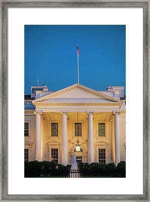White House At Dusk Framed Print by Andrew Soundarajan