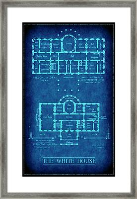 White House Blueprint Framed Print by Daniel Hagerman