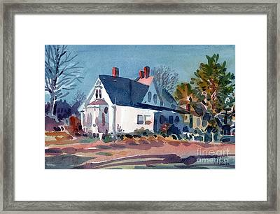 White House Framed Print by Donald Maier