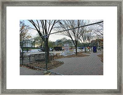 White House Inaugural Construction Framed Print by Cora Wandel