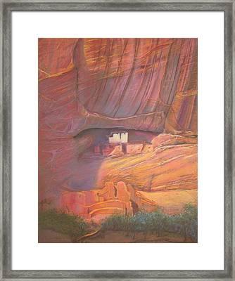 White House Rock  Home Of He Anasazi He Anasazi Framed Print by Pamela Mccabe