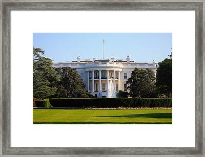 White House Framed Print by Trevor McGoldrick