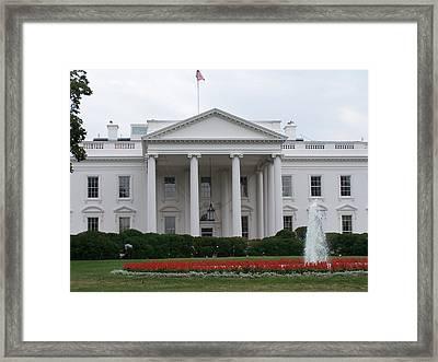 White House Framed Print by Vijay Sharon Govender