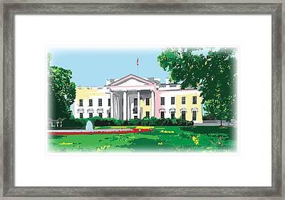 White House, Washington Dc Framed Print