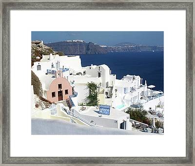 White Houses Of Oia Framed Print