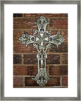 White Iron Cross 1 Framed Print