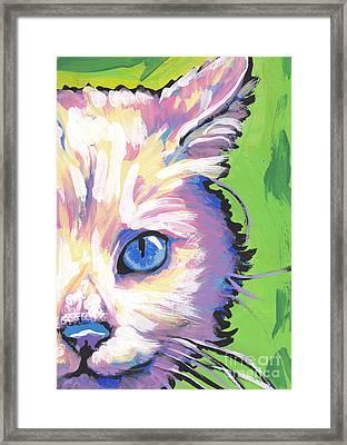 White Kitty Cat Framed Print by Lea S