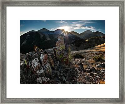 White Knob Mountains Framed Print by Leland D Howard