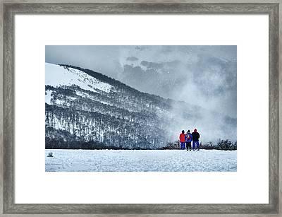 White Landscape In The Frozen Paradise Framed Print