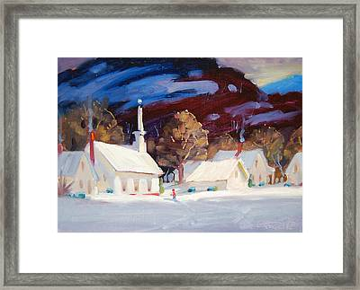 White Light Framed Print by Len Stomski