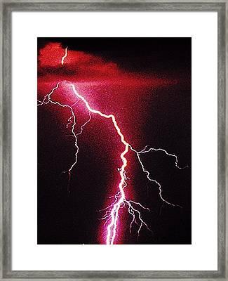 White Lightning Framed Print by Vicky Brago-Mitchell