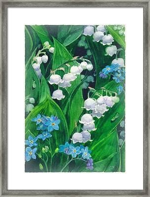 White Lilies Of The Valley Framed Print by Sergey Lukashin