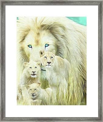 White Lion Family - Forever Framed Print