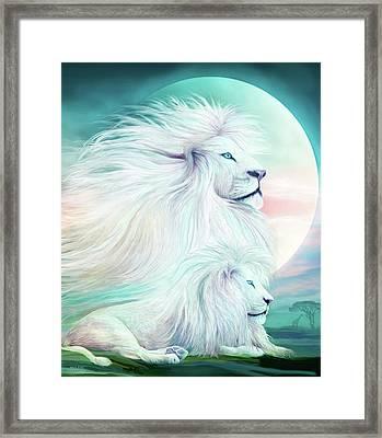 White Lion - Spirit King Framed Print