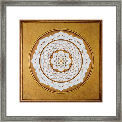 White Lotus Eye Framed Print