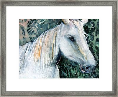 White Magic Framed Print by Mindy Newman