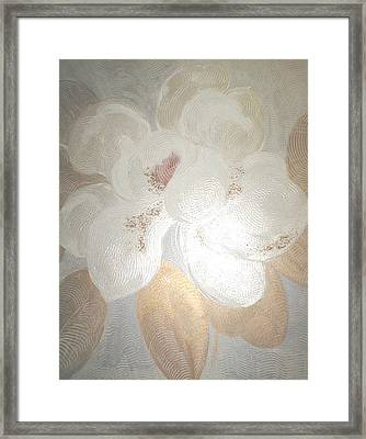 White Magnolia Framed Print by Marja Koskinen-Talavera