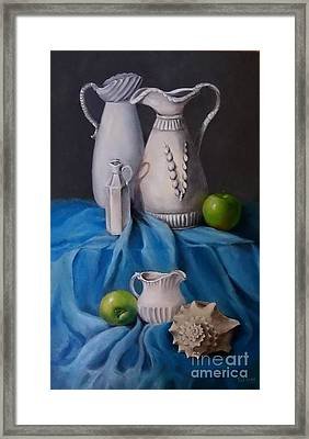 White Menagerie  Framed Print by Patricia Lang