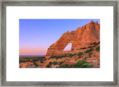 White Mesa Arch Framed Print