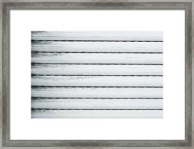 White Metal Framed Print
