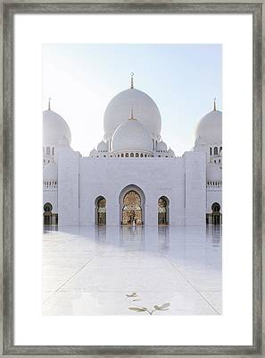 White Mosque Framed Print