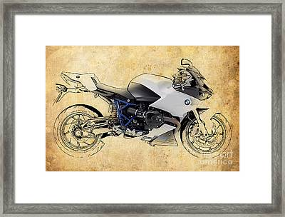 White Motorcycle Bmw Framed Print by Pablo Franchi