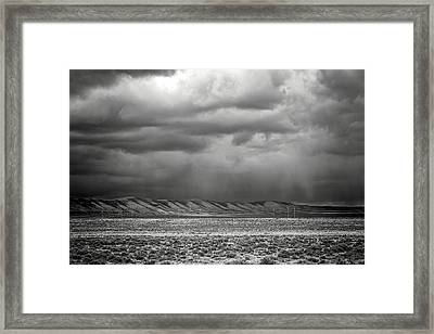 Framed Print featuring the photograph White Mountain by Lou Novick