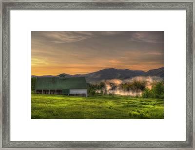 White Mountain Sunrise - New Hampshire Framed Print by Joann Vitali