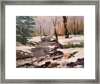 White Mountains Creek Framed Print