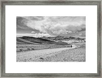 White Mountains Ride Framed Print by Jamie Pham