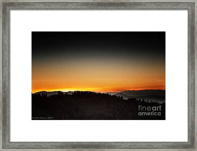 White Mountains Sunrise Framed Print by Arne Hansen