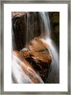 Framed Print featuring the photograph White Mountains Waterfall by Jason Moynihan