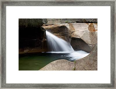 White Mountains Waterfall Framed Print