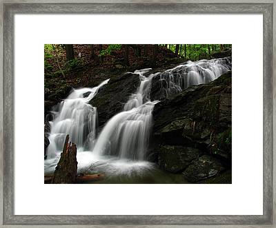 White Mountains Waterfall Framed Print by Juergen Roth