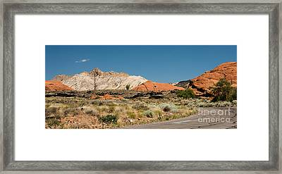 White Navajo Sandstone Petrified Sand Dune Framed Print by MaryJane Armstrong