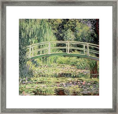 White Nenuphars Framed Print by Claude Monet