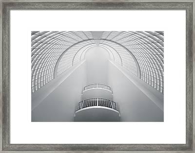 White Framed Print by Nico T