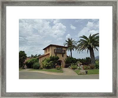 White Oak Winery Framed Print by Gordon Beck