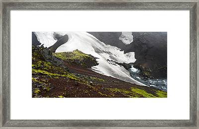 White On Black In The Icelandic Highlands Framed Print