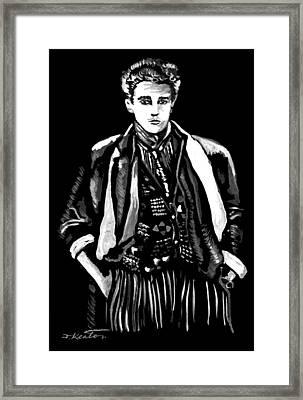White On Black Framed Print by John Keaton