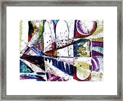 White On Light Framed Print by Mindy Newman