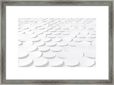 White On White Scale Peels Framed Print by Allan Swart