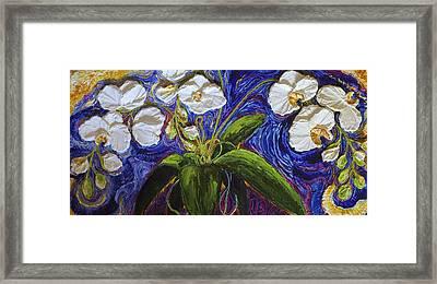 White Orchid Framed Print by Paris Wyatt Llanso