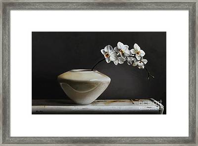 White Orchids  Framed Print by Larry Preston